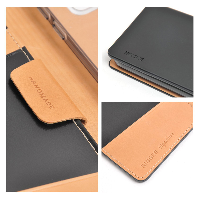 new style 16950 6edf2 REARTH Ringke Signature Leather Wallet Case for Galaxy S7/S7 Edge