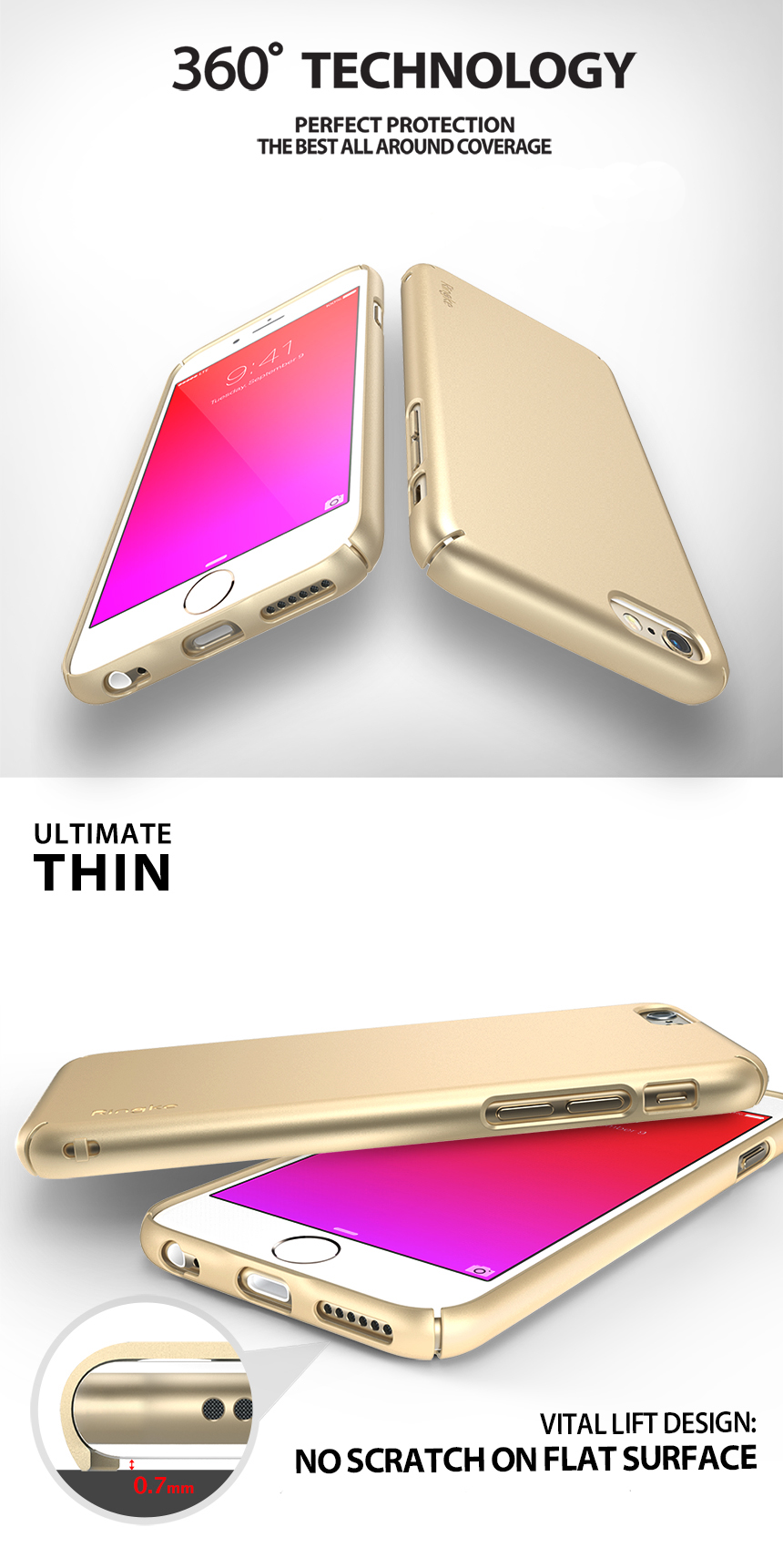 Rearth Ringke Slim Case For Iphone 6s Plus Authorized Reseller 7 Royal Gold This Is Not Compatible With 6 And