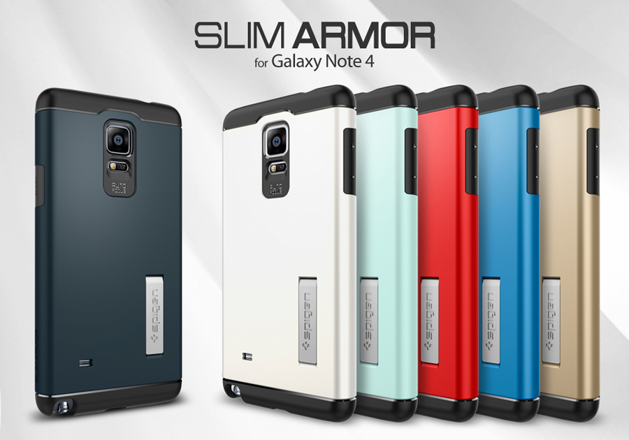 the latest 5e981 96ac0 Spigen Slim Armor Case for Galaxy Note 4
