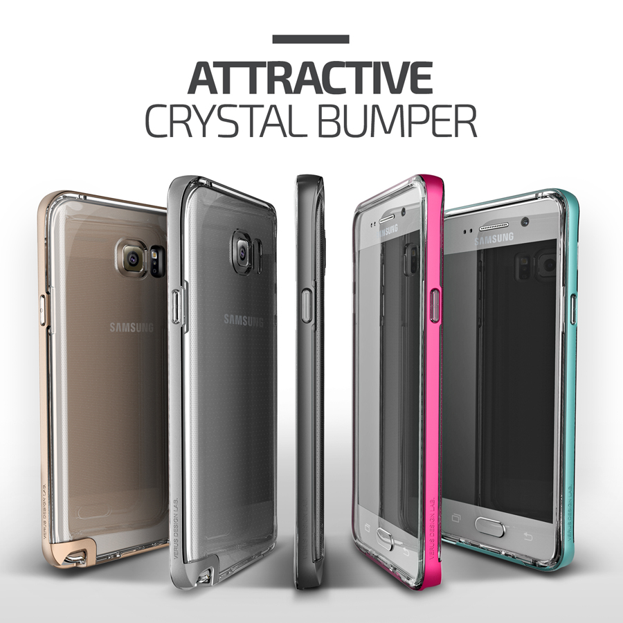 Verus Crystal Bumper Case For Samsung Galaxy Note 5 Shining Clear S6